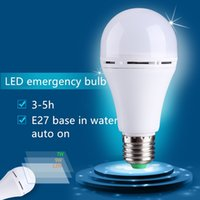 Wholesale 9w led work lamp - Brand NEW LED Emergency Lighting lamp E27 9W 12W Bulb Light Manual Automatic control 3~5 hours Portable working AC85-265V