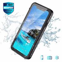 ingrosso cassa impermeabile antiurto di iphone-Custodia impermeabile per acqua di protezione Shock Dirt Snow Proof per iPhone X XS XR X MAX 5.8