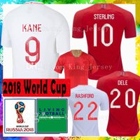 Wholesale feet stones - Top Thai quality world cup 2018 soccer jersey 9 KANE 10 STERLING 20 DELE 11 VARDY 5 Stones Arnold football shirt Maillot de foot men