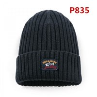 Wholesale winter hat italy - NEW SHARK Yachting winter caps 2018 MEN'S & Women FASHION snow hats #835 Italian brand Italy business casual Yachtings peaked Paul cap
