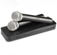 micrófono de etapa al por mayor-Profesional BLX288 UHF Micrófono inalámbrico Sistema de Karaoke Transmisor de mano dual Mic para Stage DJ KTV