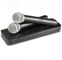uhf transmissores venda por atacado-Profissional BLX288 Sistema de Microfone Sem Fio UHF Karaoke Dual Handheld Transmissor Mic para o Estágio DJ KTV