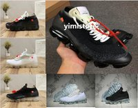 Wholesale leather shoelaces - 2018 New fashion designer mesh Vapormax casual shoes men women trainers black sneakers Size 36-45 Free 3 colors shoelaces