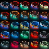 ingrosso gli occhiali di halloween si illuminano-EL Wire Light LED Occhiali da sole luminosi Occhiali da party Club Bar Performance Glow Party DJ Dance Occhiali accendono i bambini giocattoli