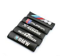 ceinture bmw achat en gros de-Veste de ceinture de siège de voiture pour BMW Volkswagen Audi KIA Protecteur d'épaule en cuir de fibre de carbone mini.