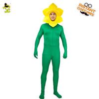 lustige erwachsene männer kostüme großhandel-Männer Weihnachten Sonnenblumen Kostüm Lustige Sonnenblumen Rollenspiel Kostüm Für Erwachsene Party Lichtfarbe Cosplay
