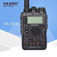 ingrosso yaesu vx-Walkie talkie generale Yaesu VX-8DR tre-band 140-174 / 420-470MHz ricetrasmettitore radio FM ricetrasmittente palmare impermeabile