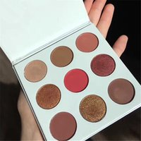 Wholesale make up kit shadows - 9 Colors Makeup Cosmetics eye shadow Palettes Kit Palettes BRONZE BURGUNDY Purple Holiday Eyeshadow Palette Make Up