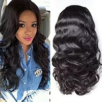Wholesale small cap human hair wig resale online - 360 Lace Frontal Wig Cap With Baby Hair Body Wave Mink Brazilian Virgin Hair full lace Human Hair Wigs For Black Women inch