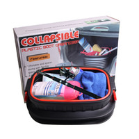 Wholesale Folding Collapsible Storage Box - 18L Storage Containers MultiFunction Collapsible Boot Organiser Plastic Washing Bucket Universal Folding Storages Box Black Durable 30ry YY