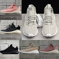 Wholesale mens brown leather fashion boots - 2018 New Arrivals Mens Women Running Shoes Fashion Boots Consortium Tubular Doom PK City sock Outdoor Sport Sneakers Black Pink Eur 36-44