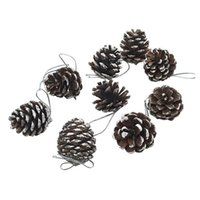 Wholesale Christmas Pine Decoration - 9Pcs Pack! Christmas Pine Cones Bauble Xmas Tree Party Hanging Decoration Ornament Gift