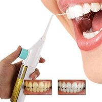 Wholesale teeth floss resale online - Portable Power Floss Dental Water Jet Cords Tooth No Batteries Dental Cleaning Whitening Teeth Cleaner Kit with box gift