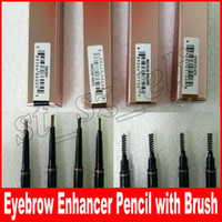 Wholesale full spiral - Double Eyebrow Pencil Free Cutting Automatically Spiral Skinny brow Enhancer Pencil Darkbrown Makeup Tools 5 colors