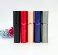 perfumes de 5ml venda por atacado-100 PCS Atacado 5 ML Mini Recarregável perfume Bottl Perfume Garrafa Atomizador Portátil Perfume Bottle Frete Grátis L82-5ML