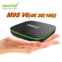 ott tv caixa bluetooth venda por atacado-Novo MXQ PRO 4K M9S V6 4 K 2 GB RAM 16 GB Bluetooth Rockchip RK3229 Android 7.1 OTT TV Boxes de 4 K Streaming Media Player media players