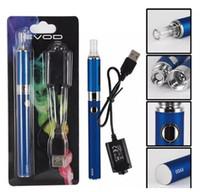 líquido de cigarrillo electrónico gratis al por mayor-Evod MT3 blister kit cigarrillos electrónicos vaporizador vape pluma MT3 atomizador para e líquido 650mAh 900mAh 1100mAh evod batería vapes DHL libre