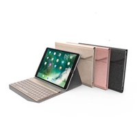 Wholesale china color screen bluetooth resale online - Leather Case With Wireless Bluetooth Keyboard For IPAD PRO inch Tablet PC With Colorful LED Backlight Split