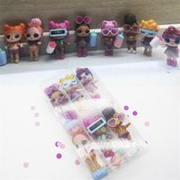 Wholesale wholesale comic clothing online - 6Pcs LoL Doll High quality Can Change Clothes Fashion Dolls Toy LoL Dolls Action Figure Toys Girl Gift