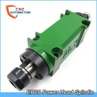 fresagem do fuso venda por atacado-ER20 Power Cabeça Chuck Spindle Unit 60mm 80mm Fuso Mecânico CNC Perfuração De Perfuração De Perfuração Máquina De Corte Ferramenta
