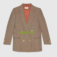 kadın keten katları toptan satış-YENİ KADIN KIZLARI Metalik deri ile keten ceket
