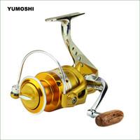 carrete de la serie al por mayor-BE1000 ~ 6000 Series Metallic Foot Fishing Spinning Reel 5.5: 1 Relación de agua salada Carrete de pesca Rueda Aparejos de pesca C18110601