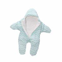 bebek sıcak çanta toptan satış-Yıldız Bebek Uyku Tulumu Kış Bebek Uyku Çuval Sıcak Battaniye Kundaklama Uyku Tulumu