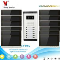 ingrosso video del sistema di intercomunicazione-YobangSecurity Video Intercom Monitor Sistema videocitofono campanello da 10 pollici Sistema di accesso all'entrata citofono per 12 unità Appartamento
