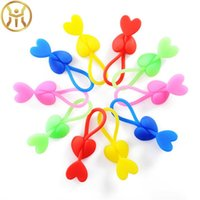 Wholesale strings band online - Silicone Heart Love Shape ECO Friendly Bag Clip Adjustable Bags Bundle Band High Elastic String For Food Keep Fresh wm Z
