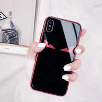 spiegel telefon fällen großhandel-YunRT Luxusmarke Lafayette Nette Augen Dämonen decken Fall für iphone 6 6S plus 7 7plus 8 8plus X Spiegelglasüberzug Telefonkästen coque ab
