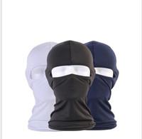 capacete completo aberto venda por atacado-Verão Respirável CS Full Face Máscara Capacete Da Motocicleta Tampa Da Boca Ao Ar Livre de Bicicleta de Esqui Olho Aberto Proteção Chapelaria Proteção Solar