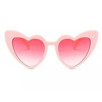 Wholesale heart glasses frames - fashionable heart sunglasses for women unique cat eye sunglasses black pink red heart shape sun glasses for women uv400