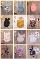 Wholesale Baby Lace Rompers Bodysuit - 2018 summer infant baby girls flower rompers animal onesies kids jumpsuit toddler bodysuit wholesale baby clothes boutique clothing 0-24M