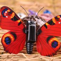 brinquedos insetos para crianças venda por atacado-Novidade magia abs borboleta inseto em forma de brinquedo de energia solar crianças brinquedo educativo presente criativo