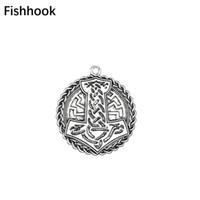 рыболовные украшения оптовых-Fishhook Vintage Nordic Mythology Thor's Hammer Seals Irish Knot Charms Wiccan DIY Men's Necklaces & Bracelets Jewelry Making