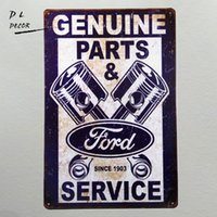 "Wholesale part shop - Tin signs ""Ford Genuine Parts & service since 1903"" Mustang Car Garage Metal Decor Art Bar Pub Shop Store"