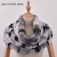 Wholesale knitted rabbit poncho - Natural Rex rabbit fur kintted scarf Real Rex Rabbit Fur knitting Scarf Neck Warmer Scarves Shawl Poncho Stole