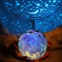 Wholesale night lights change colors for sale - Group buy Creative Bed Night Lamp Change Colors PVC Projection LED Lights Rotating Star Moon Sky USB Light For Home Decoration ln B