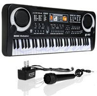 Wholesale electronic piano organ - Children Electric Piano Organ 61 Keys Music Electronic Keyboard Key Board For Kids Chrismas Gift US plug
