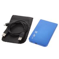 Wholesale External Slim Enclosure - Ultra-Slim USB 2.0 Hard Drive External Enclosure Case for 2.5 Inch SATA HDD SSD