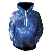 nebelfleck-sweatshirt großhandel-Space Galaxy Hoodies Männer / Frauen Sweatshirt mit Kapuze 3D Brand Kleidung Cap Drucken Paisley Nebula Jacket