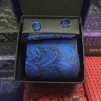 aacaf6a546a1 Gift Box 3pcs Include Men Tie Hanky Cufflinks Luxury Design Polyester Neckties  Set For Business Unique Gifts 8py KK
