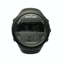 Wholesale sports watches altimeter online - NORTHEDGE Men Sports Hiking Outdoors Digital Watch Fishing Altimeter Running Weather Thermometer Climbing Clock Smart Hour NE1