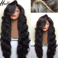 ingrosso capelli naturali brasiliani-Vendita calda 360 parrucca piena del merletto 150% densità brasiliana capelli umani parrucche corpo onda colore della natura
