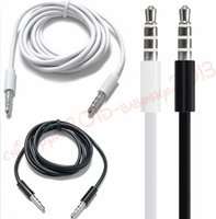 Wholesale Aux Audio Cable m m m mm Male to male aux Cord line for iphone ipod mp3 pc speaker headphone