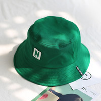 Wholesale bucket hats men for sale - Group buy 2018 green Bucket Hat Fisherman Hats Men Women Outer Summer Street Hip Hop Dancer Cotton Panama City Hat