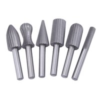 Wholesale dremel cutters online - 6mm quot For Dremel Rotary Tools Carbide Cutter Rotary Burr Set CNC Engraving Bit Rotary File Bur Burr Grinding Shank