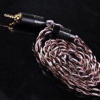 kablo olayı toptan satış-Yinyoo OCC Tek Kristal Bakır Gümüş Kaplama Kablo 2.5 / 3.5 / 4.4mm Dengeli Kablo MMCX Konnektörü Ile HQ10 HQ8 se846 Için