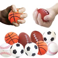 Wholesale Volleyball Charms - Soccer Football Squishy Toys Baseball Basketball Volleyball Slow Rising Jumbo Squeeze Phone Charms Cream Bread Stress Reliever Gift