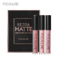 Wholesale focallure makeup for sale - Group buy FOCALLURE lip gloss set matte matte mouth red pearl light shiny lip gloss gilt set high quality Lip makeup FA24